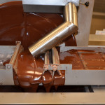 molding HEXX chocolate bars