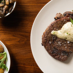 Hexx steak mushrooms & salad - Anthony Mair